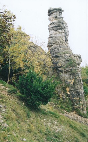 Devil's chimney at Leckhampton Hill near Cheltenham